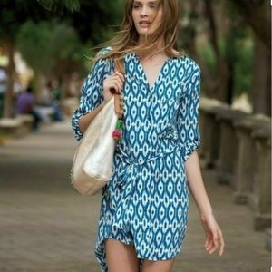 Anthropologie Maeve Ikat Frequencies Dress M